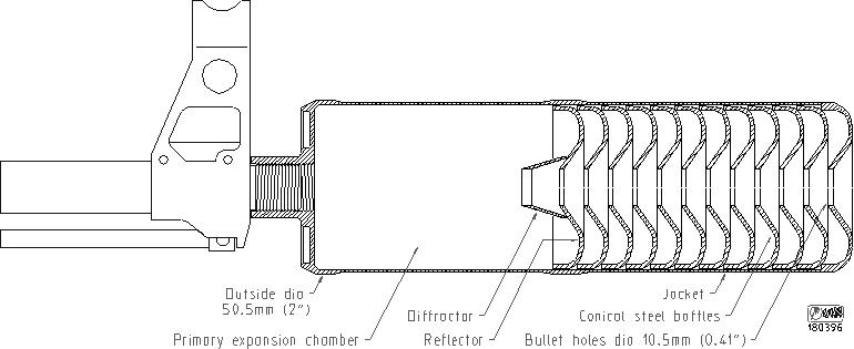 глушителя Reflex KRS для
